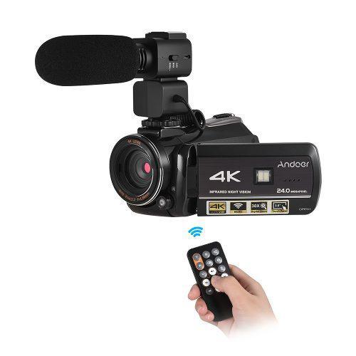 Cámara vídeo digital ac3 4k uhd 24mp videocámara us