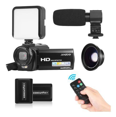 Cámara vídeo digital andoer hdv-201lm 1080p fhd dv