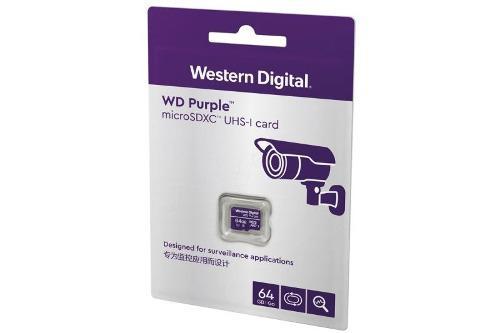 Memoria wd 64gb micro sdxc purple vigilancia clase 10