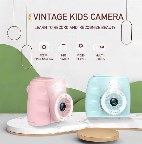 Mini camara digital 2 pulgadas 720p juguetes camara rosa