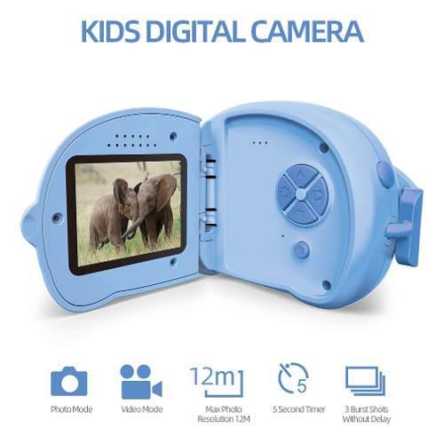 Niños cámara hd mini cámara digital 12mp 2 pantalla