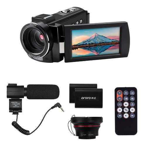 Ordro hdv-ae8 4k wifi cámara de vídeo digital videocámara