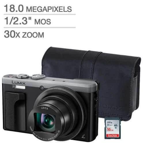 Panasonic lumix dmc-zs60 camara digital plateada bundle est