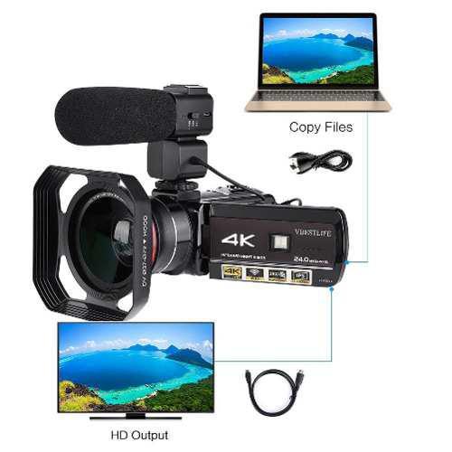 Vbestlife ac3- ips 4k wifi 3.1? cámara vídeo digital panta