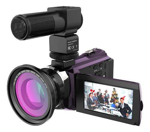 Vídeo cámara digital andoer 4k 1080p 48mp wifi