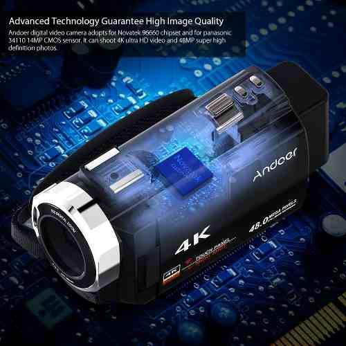 Videocámara 4k 1080p 48mp wifi digital vídeo cámara de