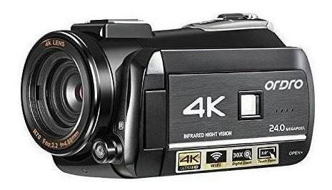 Videocámara 4k, cámara de vídeo digital ordro 4k ultra-hd
