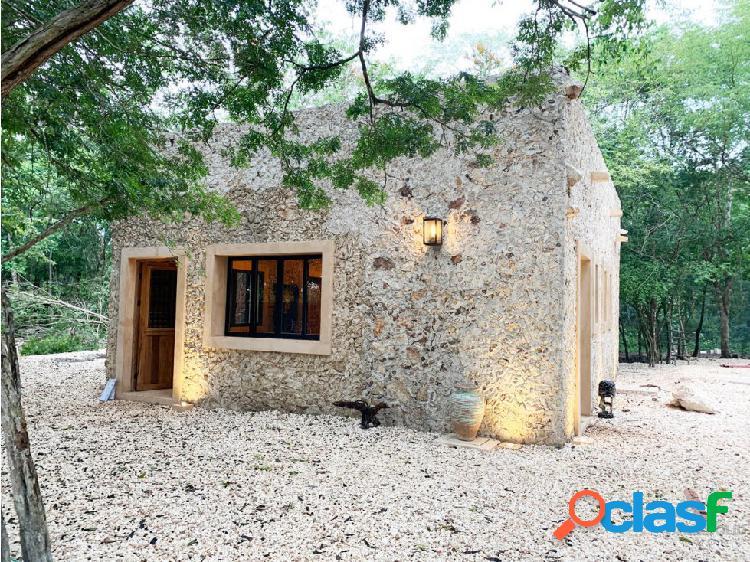 Rancho residencial con cenote en tikuch yucatán