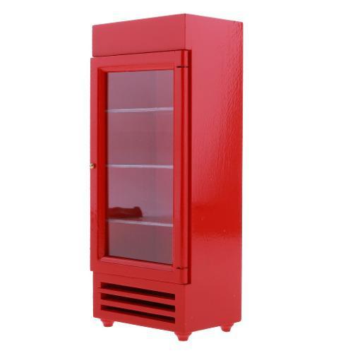1:12 miniaturas mini modelo de refrigerador vertical de
