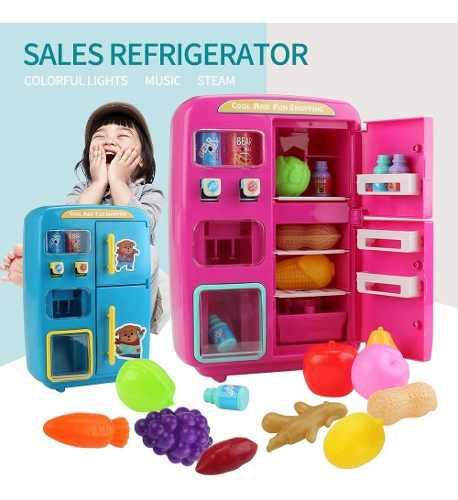 31 Unids En 1 Juguete De Cocina Mini Vending Refrigeradores