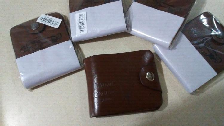 Billeteras cartera para hombre de piel cuero