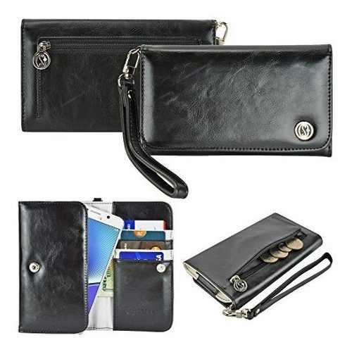 Funda negro-stylus piel sintética bolso / embrague / bolsa