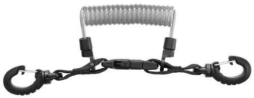 Mares lanyard cable en espiral acero inoxidable buceo 50cm