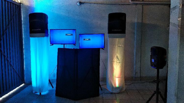Renta de audio y pantallas para fietas o eventos