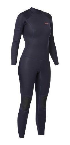 Traje surf 100 neopreno 2/2 mm mujer azul marino 8403234 1