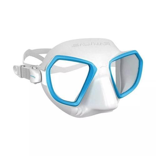 Visor salvimar apnea, buceo, modelo noah - blanco