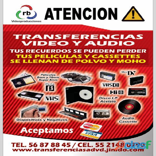 Digitalización de VHS, Beta Super 8mm y 16mm