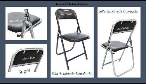 10 silla banquetera cromada o esmaltada