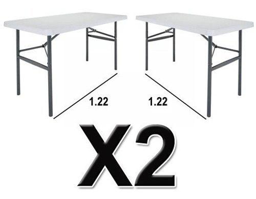 2 mesas plegables 1.22 jardín, eventos, exterior