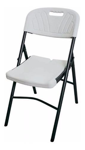 6 sillas plegable tipo lifetime estructura acero exterior
