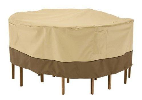 Accesorios clasicos veranda mesa de patio redonda y funda de
