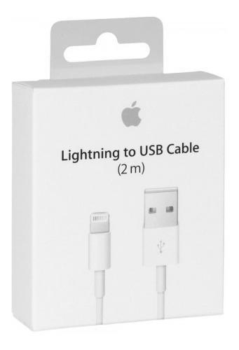 Cable original 2 metros iphone ipad ipod usb lightning turbo
