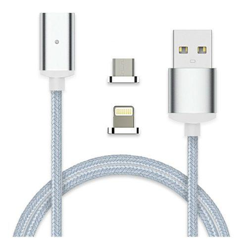 Cable trenzado con conector magnético
