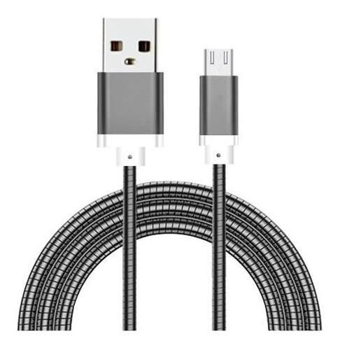 Cable v8 metálico reforzado celular microusb mayoreo