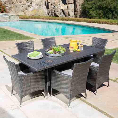 Comedor de rattan gris mueble para jardin o exterior