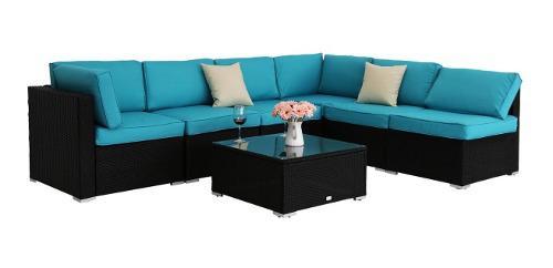Excelente conjunto de sofá rattam al aire libre envio
