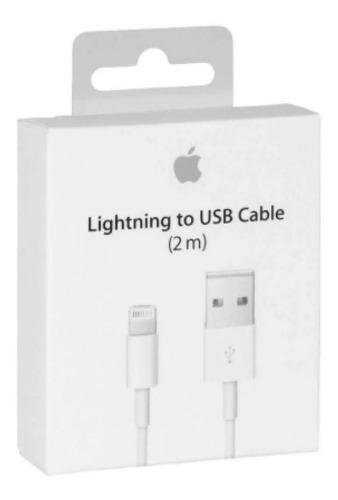 Lote con 20 cables cargador lightning 1m para iphone 6,7,8 x