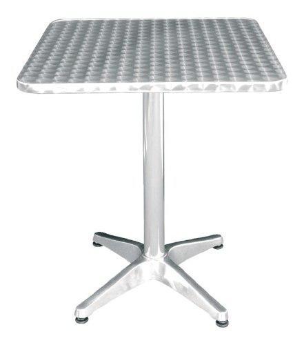 Mesa de aluminio cubierta acero inoxidable 80x80bares yb-513