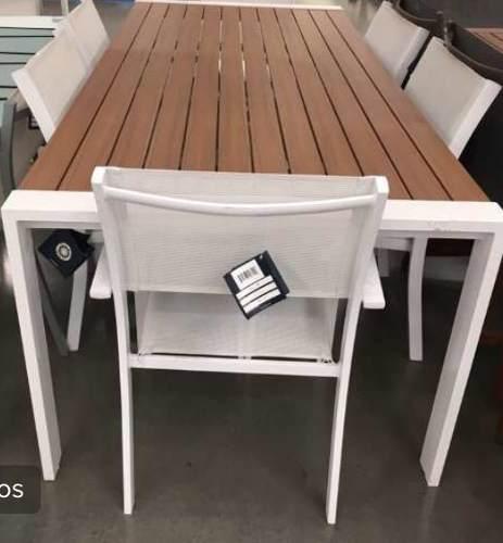 Mesa de aluminio para exterior