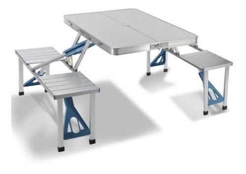 Mesa plegable aluminio 4 asientos picnic camping artist hand