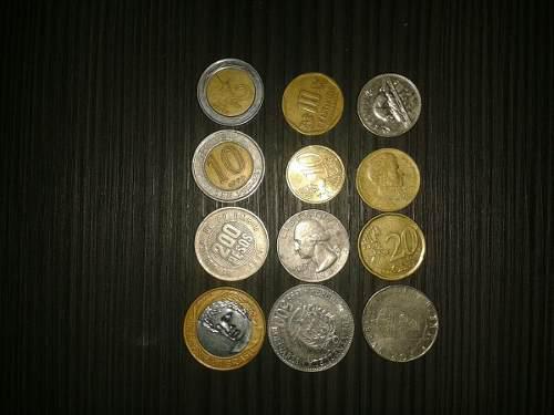 Monedas extranjeras lote