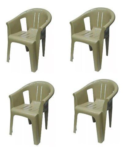 Paquete de 4 sillas de plástico reforzado kartell tuxedo