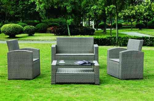 Muebles De Jardín Jardín Conjunto De Asientos De Ratán Tirol