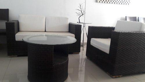 Sala de 3 piezas moderna para exterior o jardín