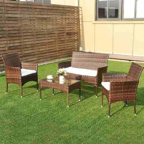 Sala jardin exterior rattan sintetico terraza disponible