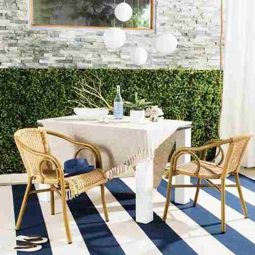 Set de 2 sillas de comedor exterior apilables café dagny en ...