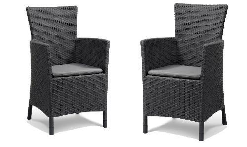 Set de 2 sillas ideal para exteriores/int máxima