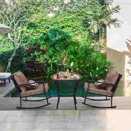 Set jardin exterior 3 pzas rattan sintetico jardin terraza