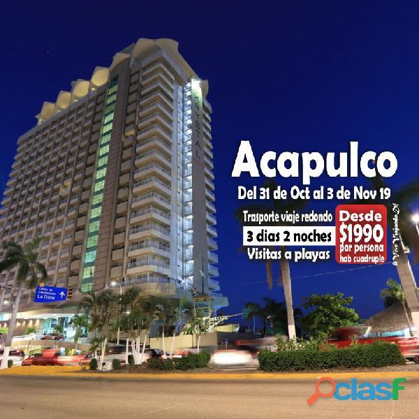 Excursión playas de acapulco 31 de oct al 3 de nov