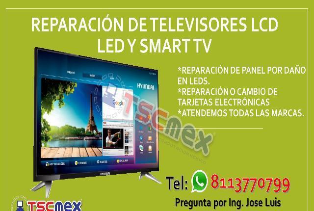 Reparacion de televisores lcd led y smart tv