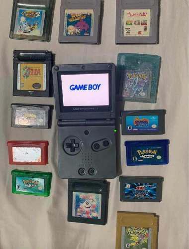 Gameboy sp doble luz con juegos originales