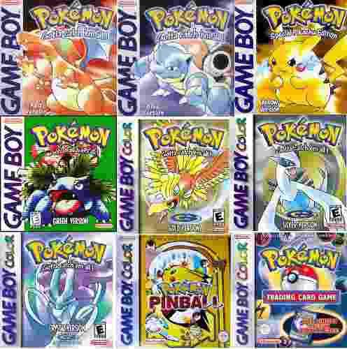 Juegos de pokémon de gb, game boy color y advance