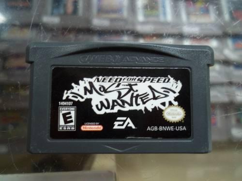 Need for speed most wanted game boy advance nintendo gba