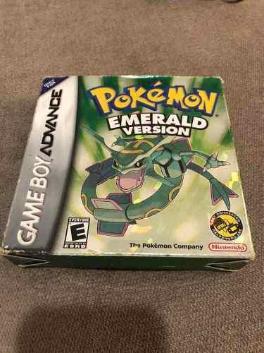 Pokemon emerald (esmeralda) gameboy advance!! completo