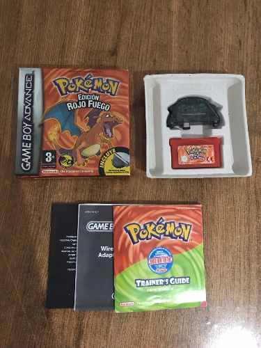 Pokémon edición rojo fuego español gameboy advance