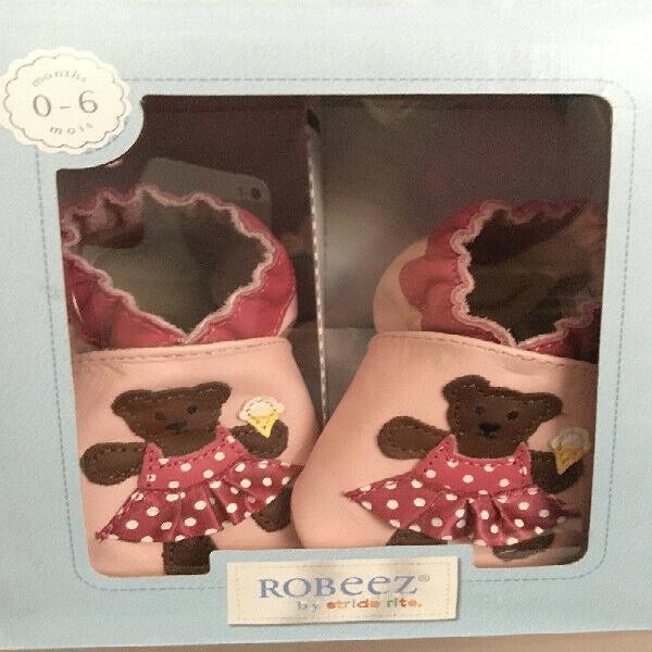 Zapatos bebé niña marca robeez talla 0-6 meses mocasín